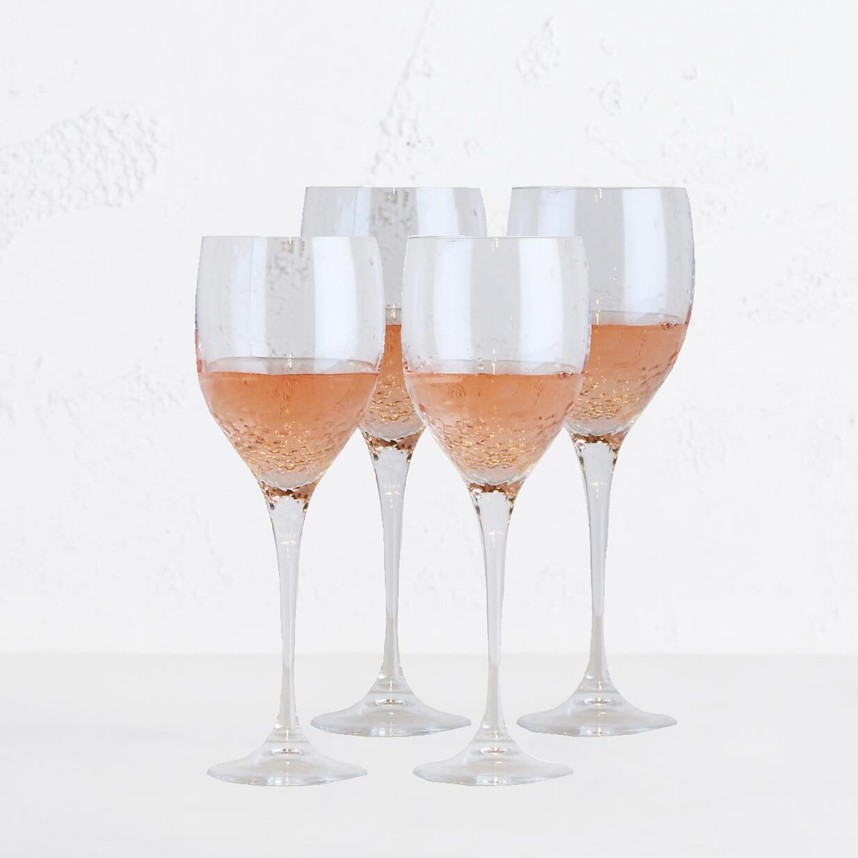 WEDGEWOOD  |  VERA WANG SEQUIN WINE GLASS  |  SET OF 4