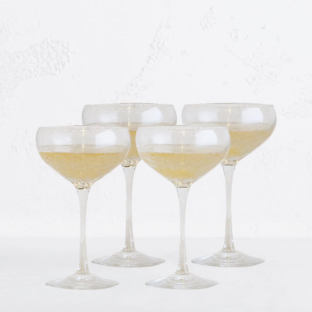 WEDGEWOOD  |  VERA WANG SEQUIN CHAMPAGNE SAUCER  |  SET OF 4