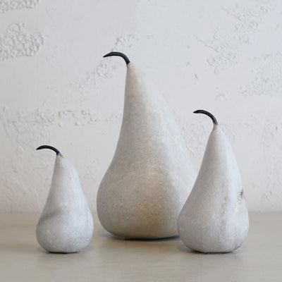 MARBLE PEAR  |  WHITE  |  SMALL