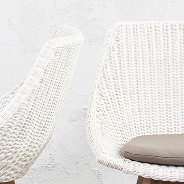 LECCO DINING CHAIR  |  WHITE WICKER
