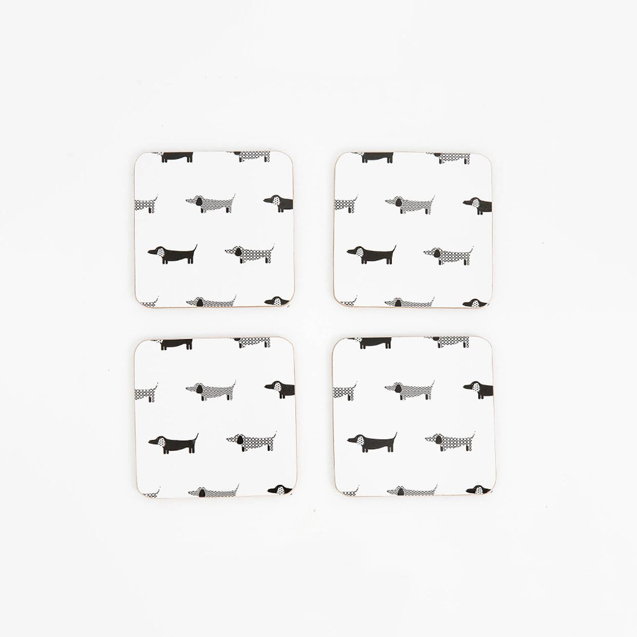 MY HYGGE HOME  |  DACHSHUND PANACHE DELUXE COASTERS  |  SET OF 4