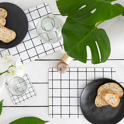 MY HYGGE HOME  |  GLAM GRID DELUXE COASTERS  |  SET OF 4