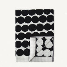 MARIMEKKO RASYMATTO BLACK SPOT BATH TOWEL  |  MODERN BATHROOM TOWELS