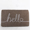HELLO DOOR MAT  |  GREY