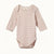 NATURE BABY  |  LONG-SLEEVE BODYSUIT  |  ROSE BUD STRIPE |  BABYWEAR BODYSUIT