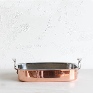CHASSEUR COPPER ROASTER WITH RACK  |  35CM