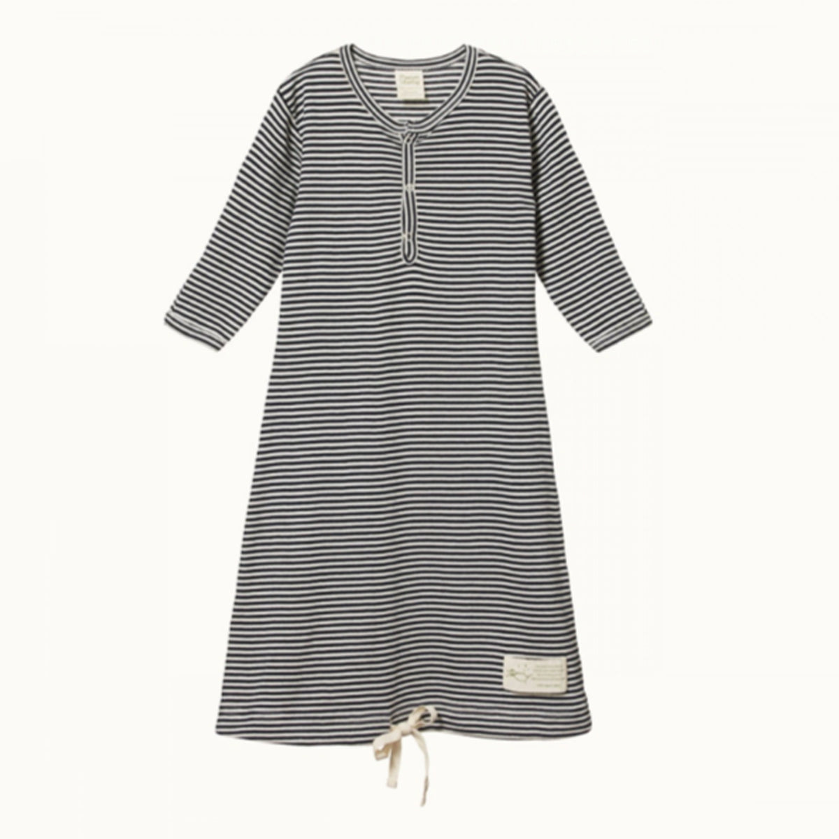 NATURE BABY  |  SLEEPING GOWN  |  NAVY STRIPE
