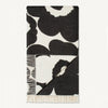 MARIMEKKO UNIKKO BLANKET  |  BLACK + WHITE FLORAL FLOWER WOOL