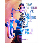 Augie Bello Saxophonists Jazz Musician Fine Art Wall Poster