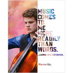 Warren Oja Cello Musician Fine Art Wall Poster - Talented Musicians