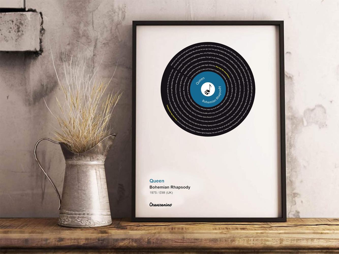 Personalized Music Vinyl Fine Art Prints Musicians Wall Art - Talented Musicians
