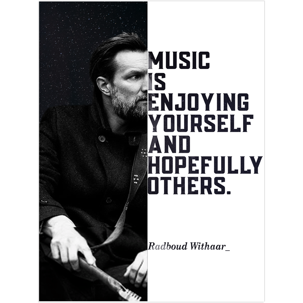 Radboud Withaar Rock Guitarist Musician Fine Art Wall Poster - Talented Musicians