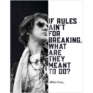 Mikei Gray The Frst Rock Musician Band Fine Art Wall Poster - Talented Musicians