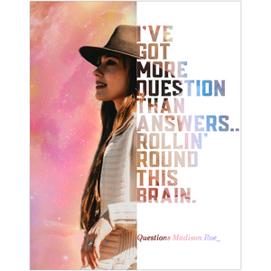 Madison Roe Guitarist Musician Fine Art Wall Poster