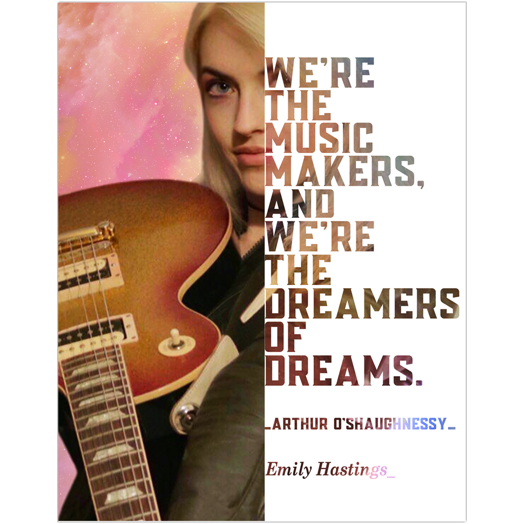 Emily Hastings Guitarist Musician Fine Art Wall Poster