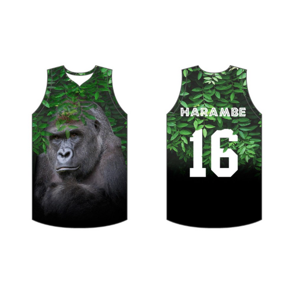 Limited Edition Harambe Basketball Jersey!!