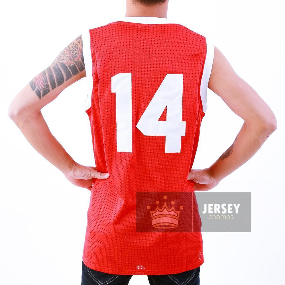 "Don Cheadle Earl ""The Goat"" Manigault 14 Benjamin Franklin High School Basketball Jersey Red Stitched - Jersey Champs"