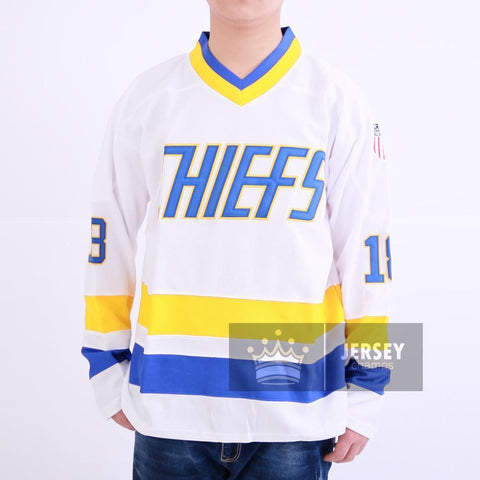 Slap Shot Jack Hanson 16 Charlestown Chiefs Hockey Jersey White