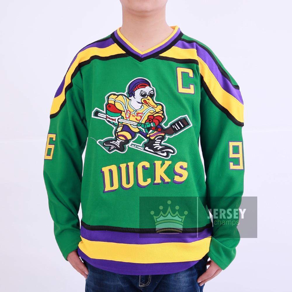 Charlie Conway The Mighty Ducks Hockey Jersey  96 - Jersey Champs - Custom  Basketball dd945de8513