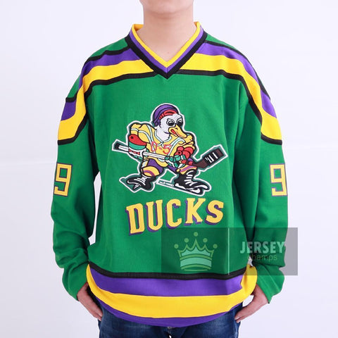 Banks 99 Mighty Ducks Ice Hockey Jersey