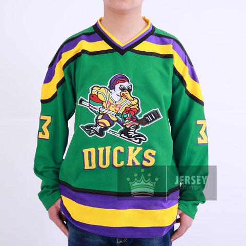Goldberg 33 Mighty Ducks Ice Hockey Jersey