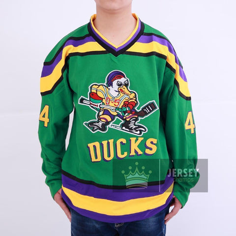 Mighty Ducks #44 Fulton Reed Movie Hockey Jersey Green Stitched
