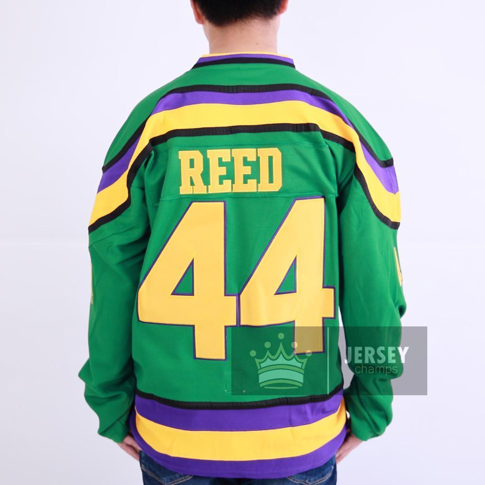 Mighty Ducks #44 Fulton Reed Movie Hockey Jersey Green Stitched - Jersey Champs
