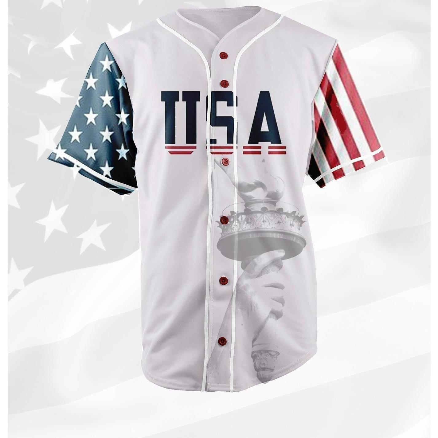 d0f0e2717 Trump USA 45 Baseball Jersey - Jersey Champs - Custom Basketball