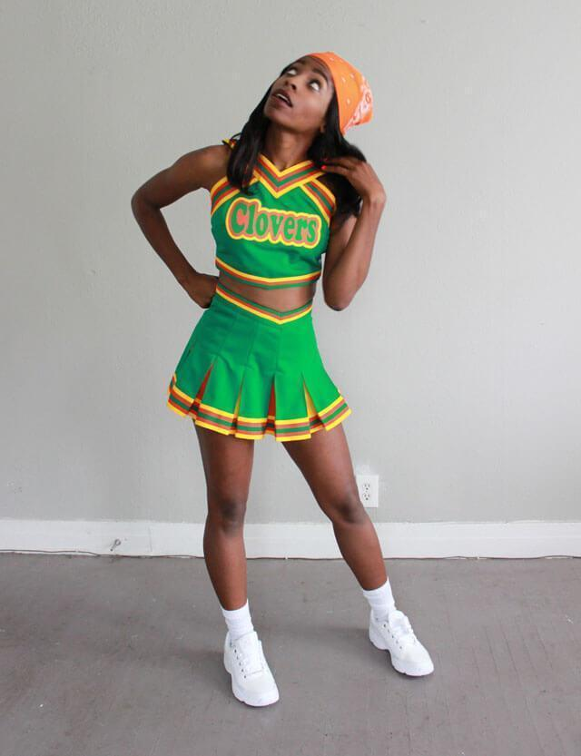 East Compton Clovers Cheerleader Uniform  sc 1 st  Jersey Ch&s & East Compton Clovers Cheerleader Uniform - Jersey Champs