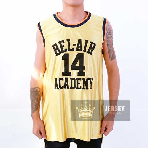Gold Smith Bel Air Academy Basketball Jersey #14