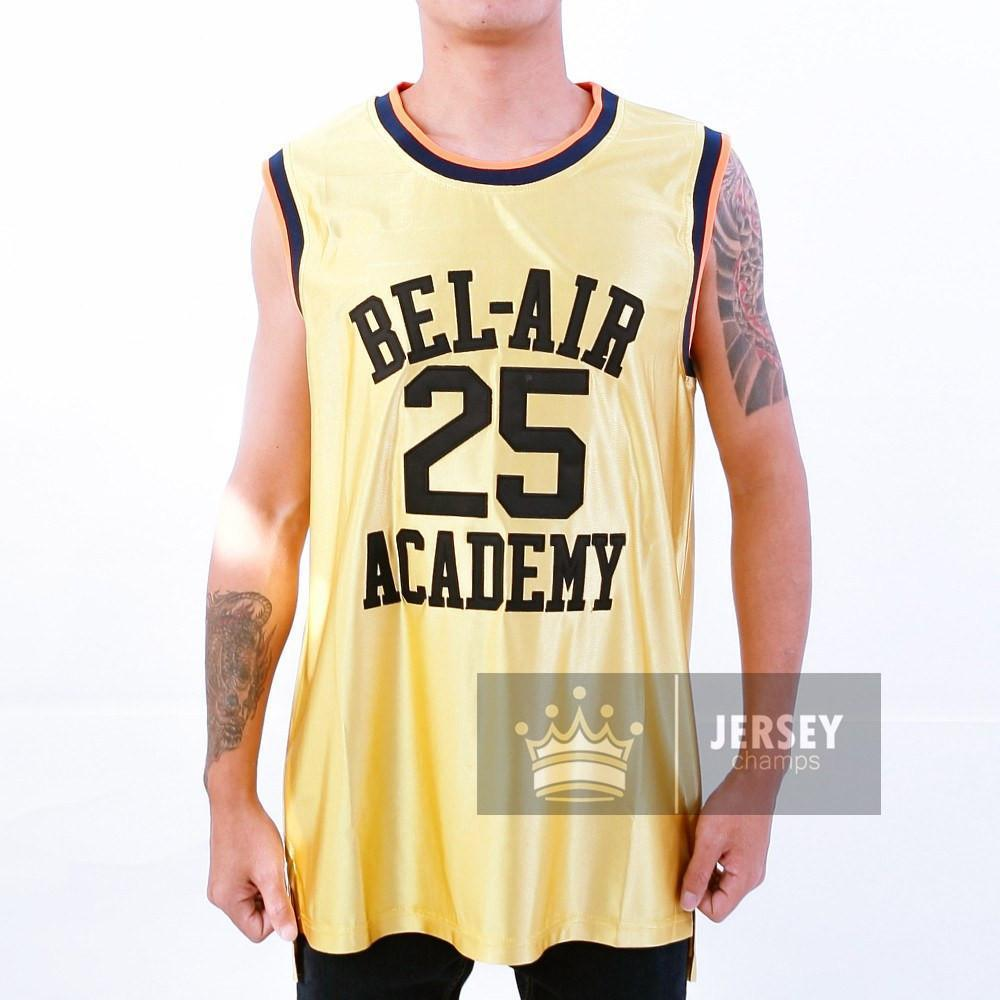 Gold Carlton Banks Bel Air Academy Basketball Jersey #25 - Jersey Champs