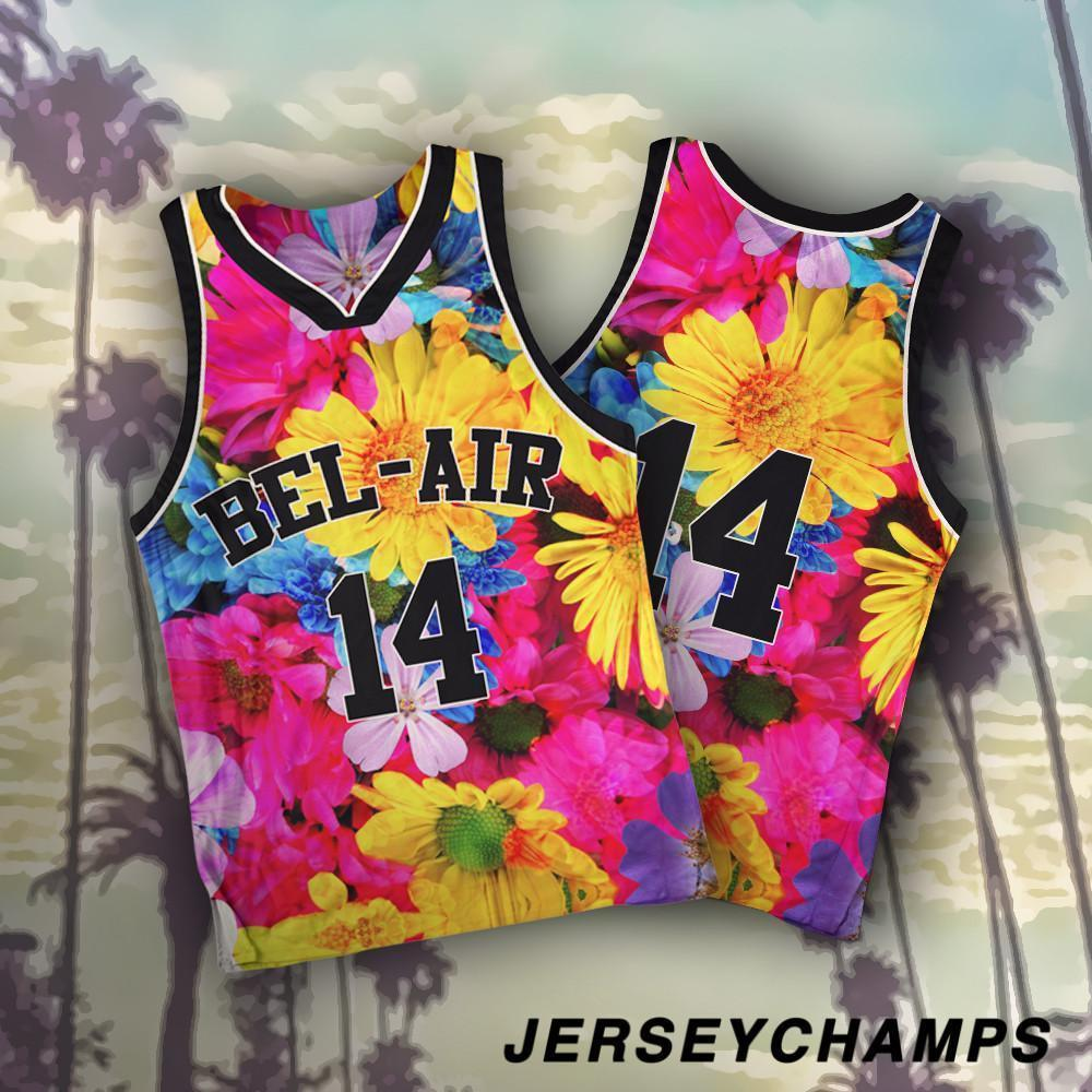 Floral Bel Air Baseball Basketball Jersey 14