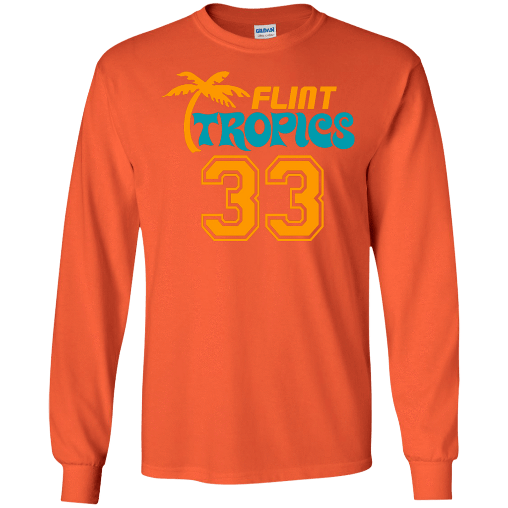 FLINT TROPICS #33 Jackie Moon Long Sleeve Shirt - Jersey Champs