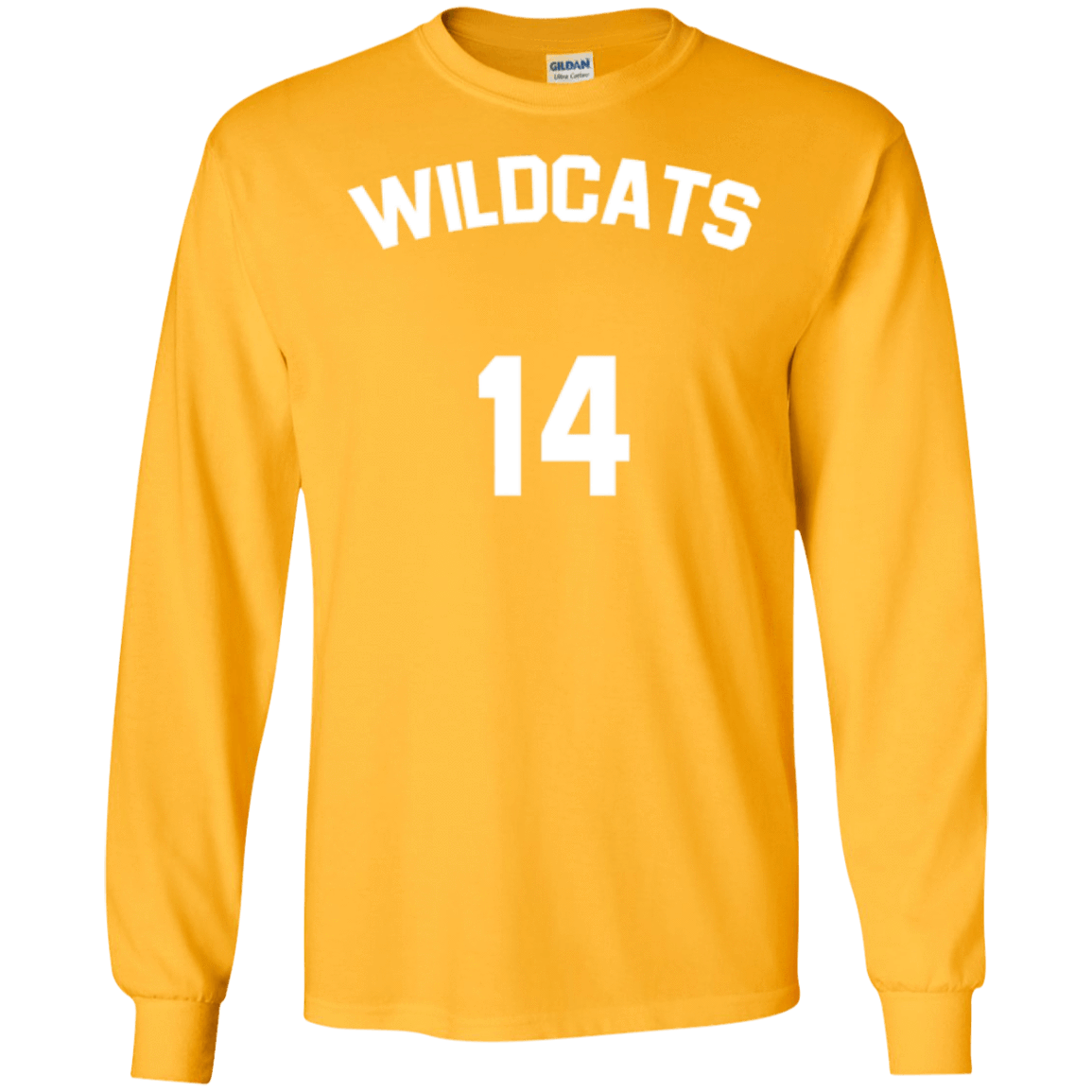 afb601088d0 Troy Bolton Wildcats Long Sleeve Shirt 14 - Jersey Champs