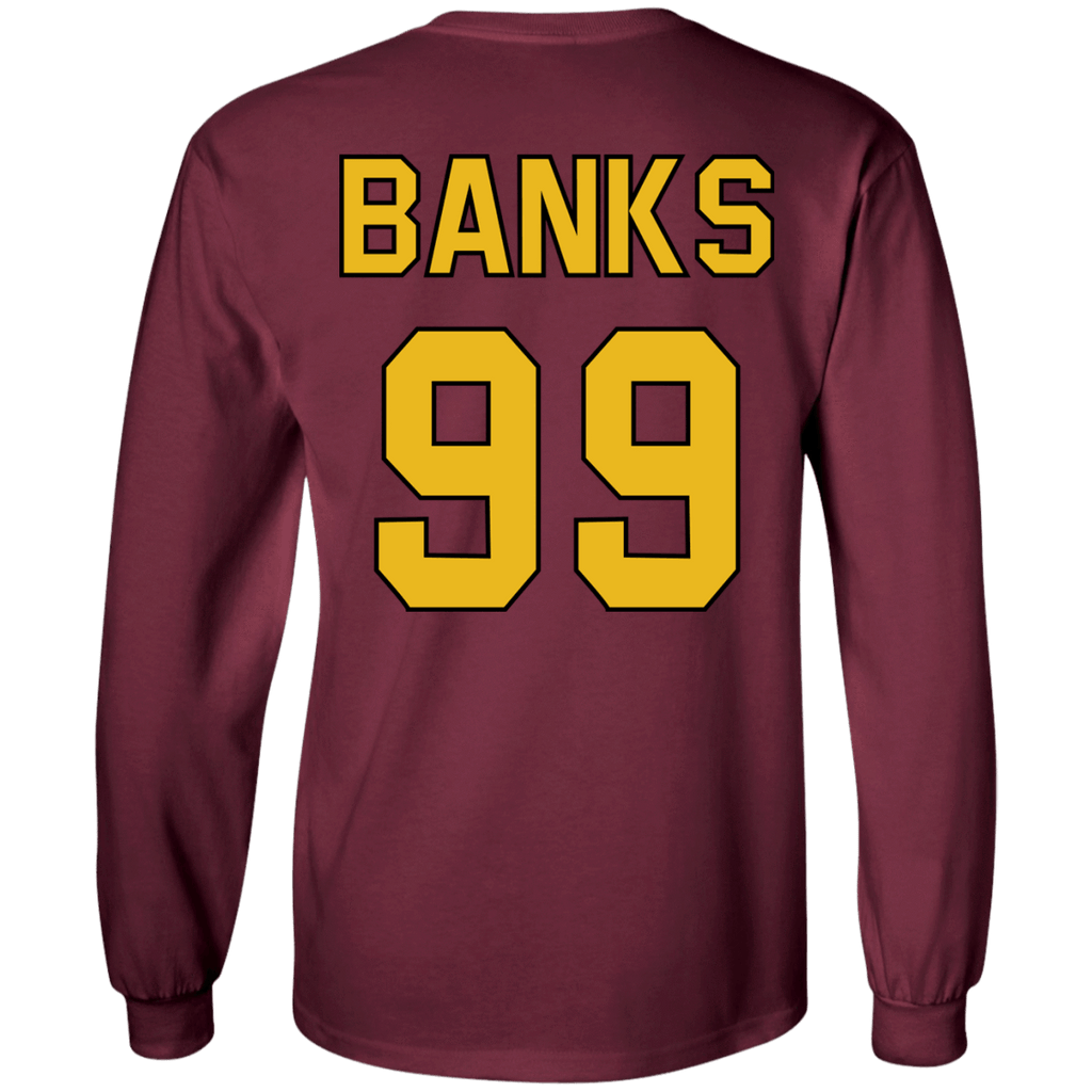 Mighty Ducks Long Sleeve Shirt #99 Banks - Jersey Champs
