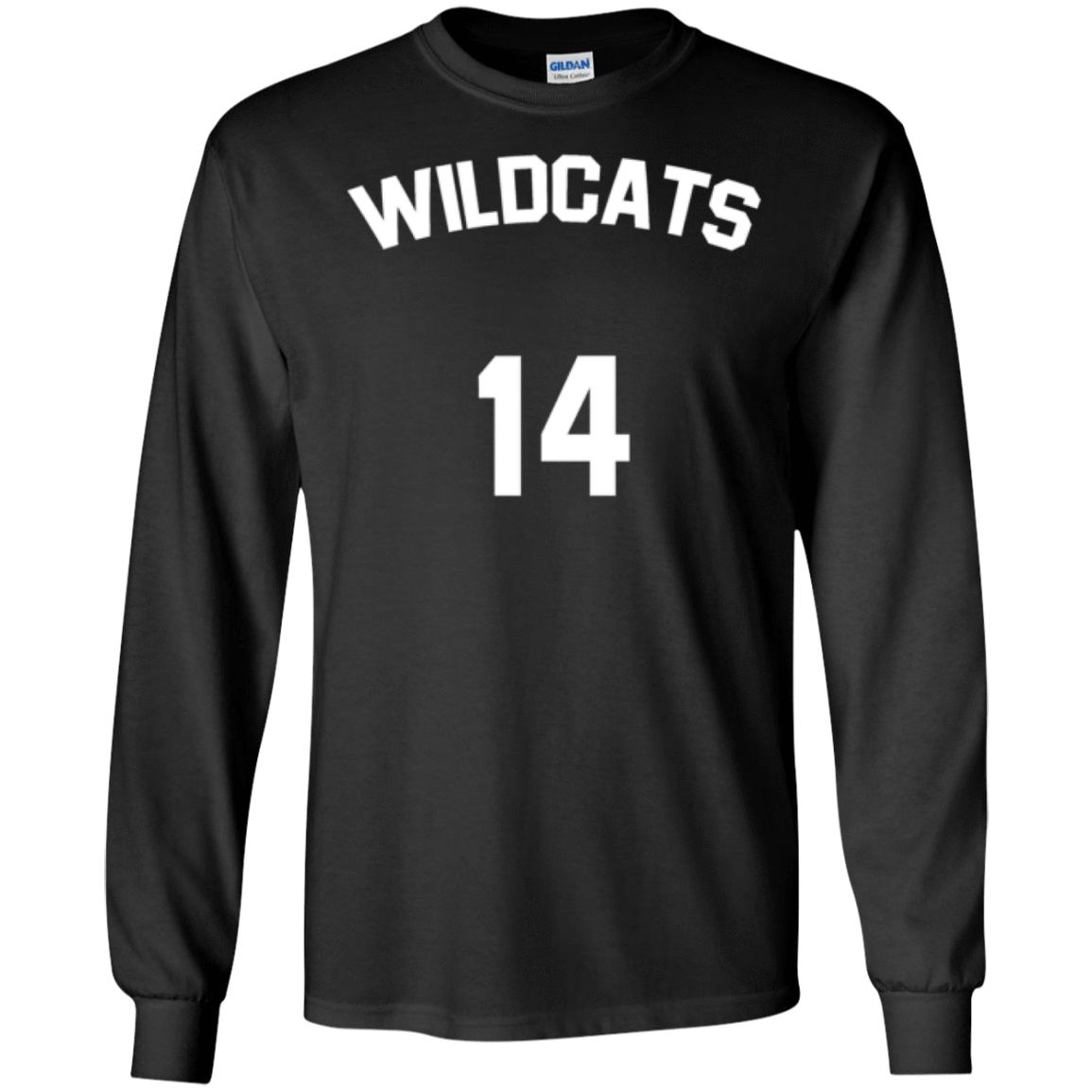 a4a6717ac Troy Bolton Wildcats Long Sleeve Shirt 14 - Jersey Champs