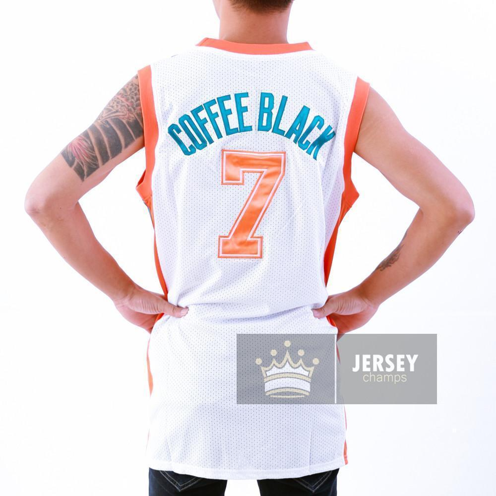 5aa53c21cd15 Stitched Coffee Black Flint Tropics Basketball Jersey Green White  7 ...