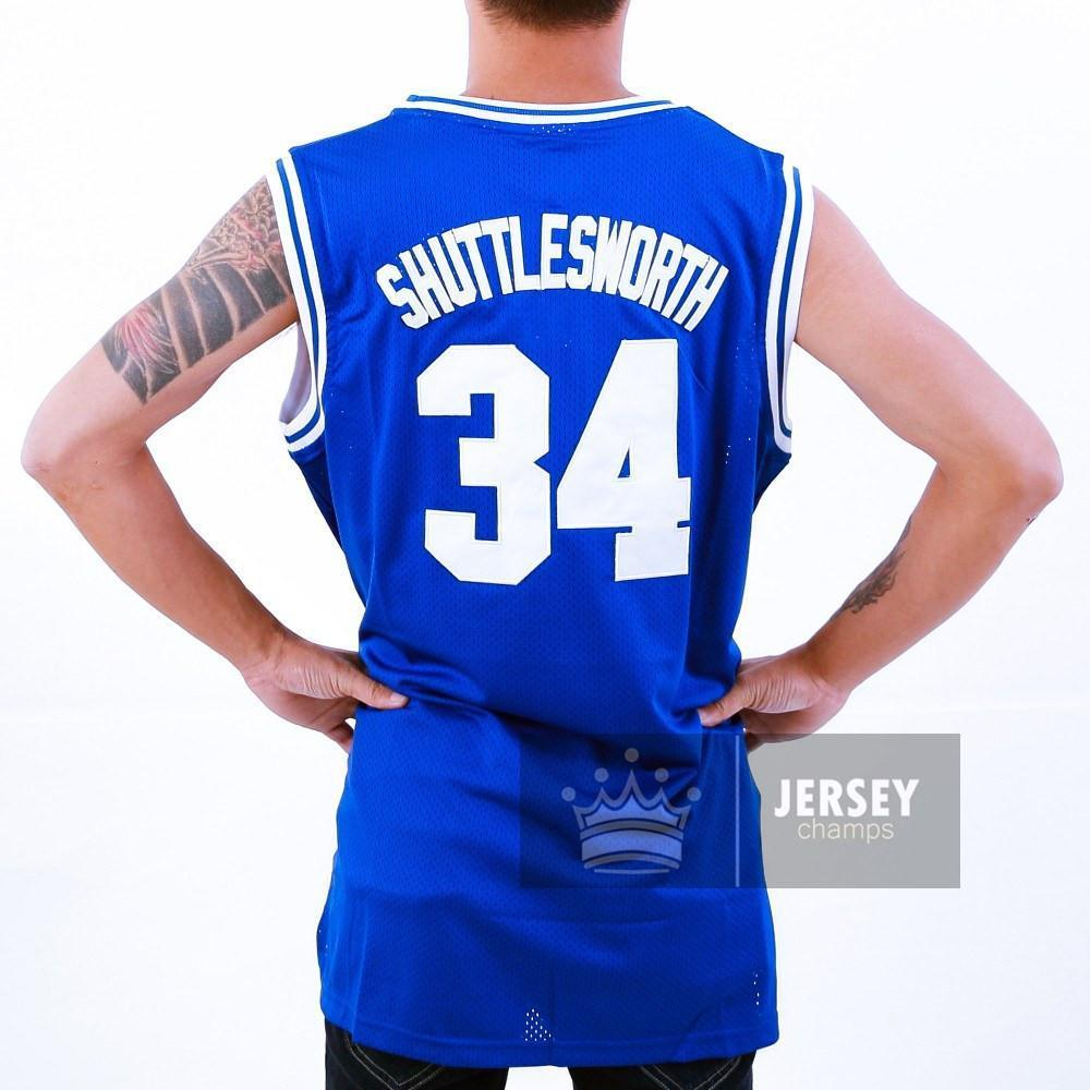 Allen Jesus Shuttlesworth 34 Lincoln High School Stitched Basketball Jersey  - Jersey Champs - Custom Basketball ec26424ef
