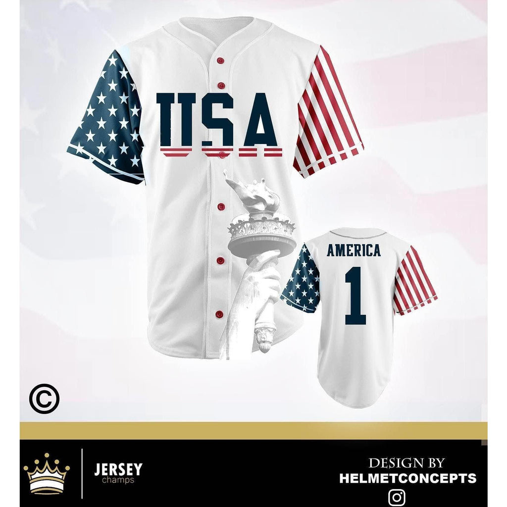 USA Stars & Stripes Baseball Jersey - Jersey Champs