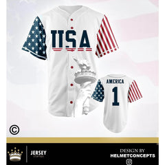 USA Stars & Stripes Baseball Jersey