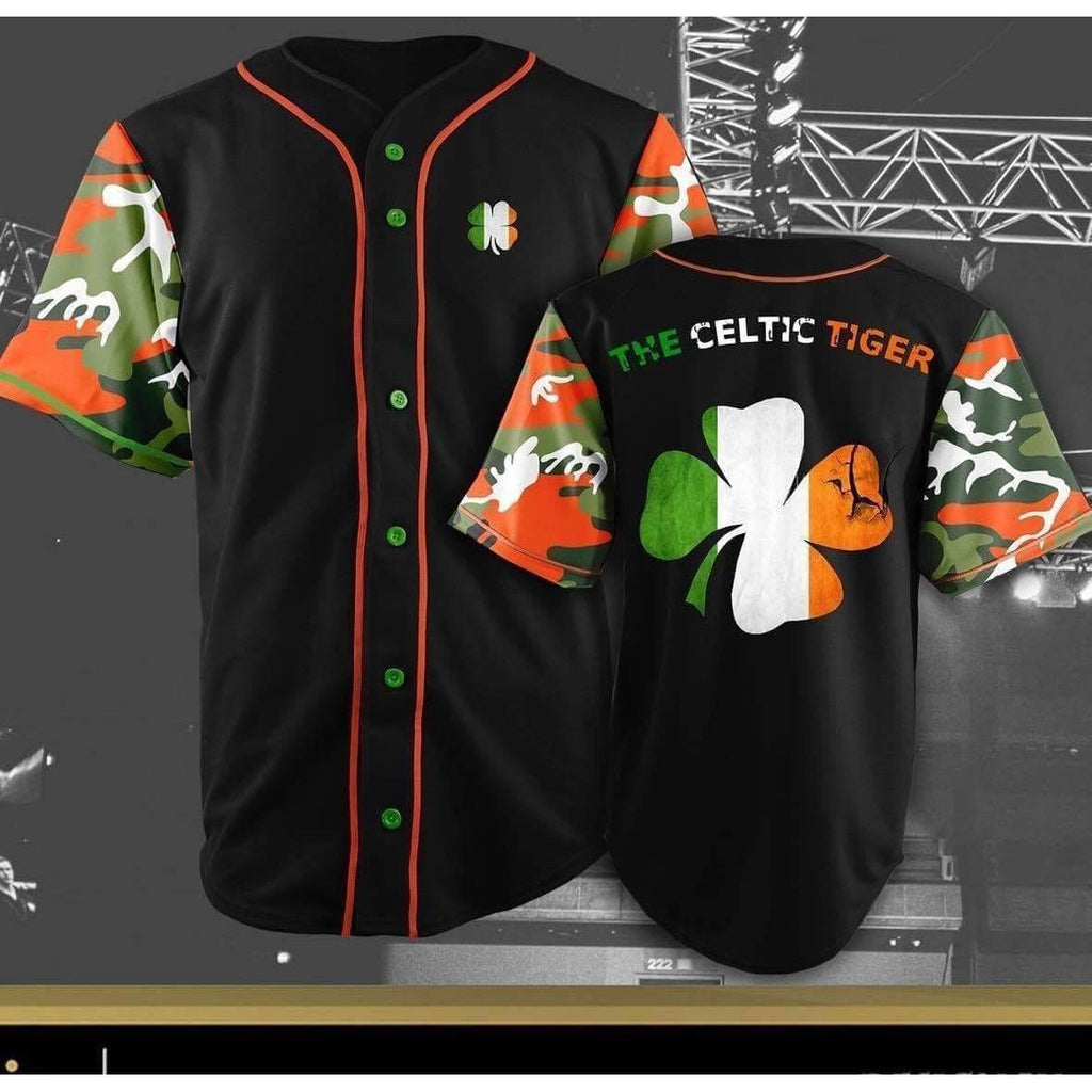 """The Celtic Tiger"" Conor mcgregor Baseball Jersey - Jersey Champs"