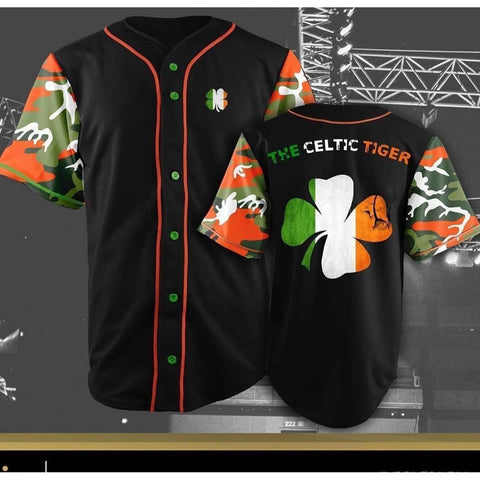 "Limited Edition ""The Celtic Tiger"" Baseball Jersey"