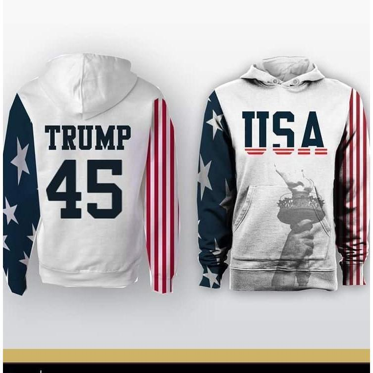Trump USA 45 Hoodie - Jersey Champs