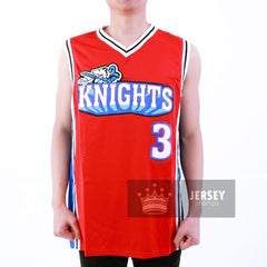 Calvin Cambridge Knights Basketball Jersey Red/White