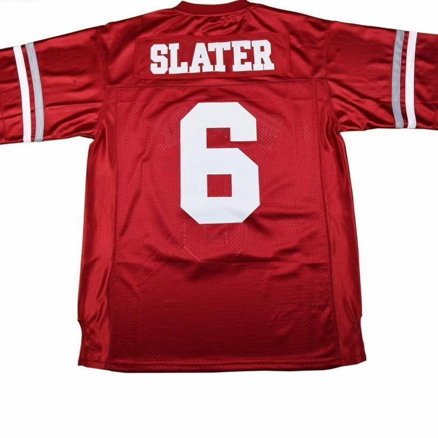 Saved By The Bell AC Slater 6 Bayside Football Jersey - Jersey Champs
