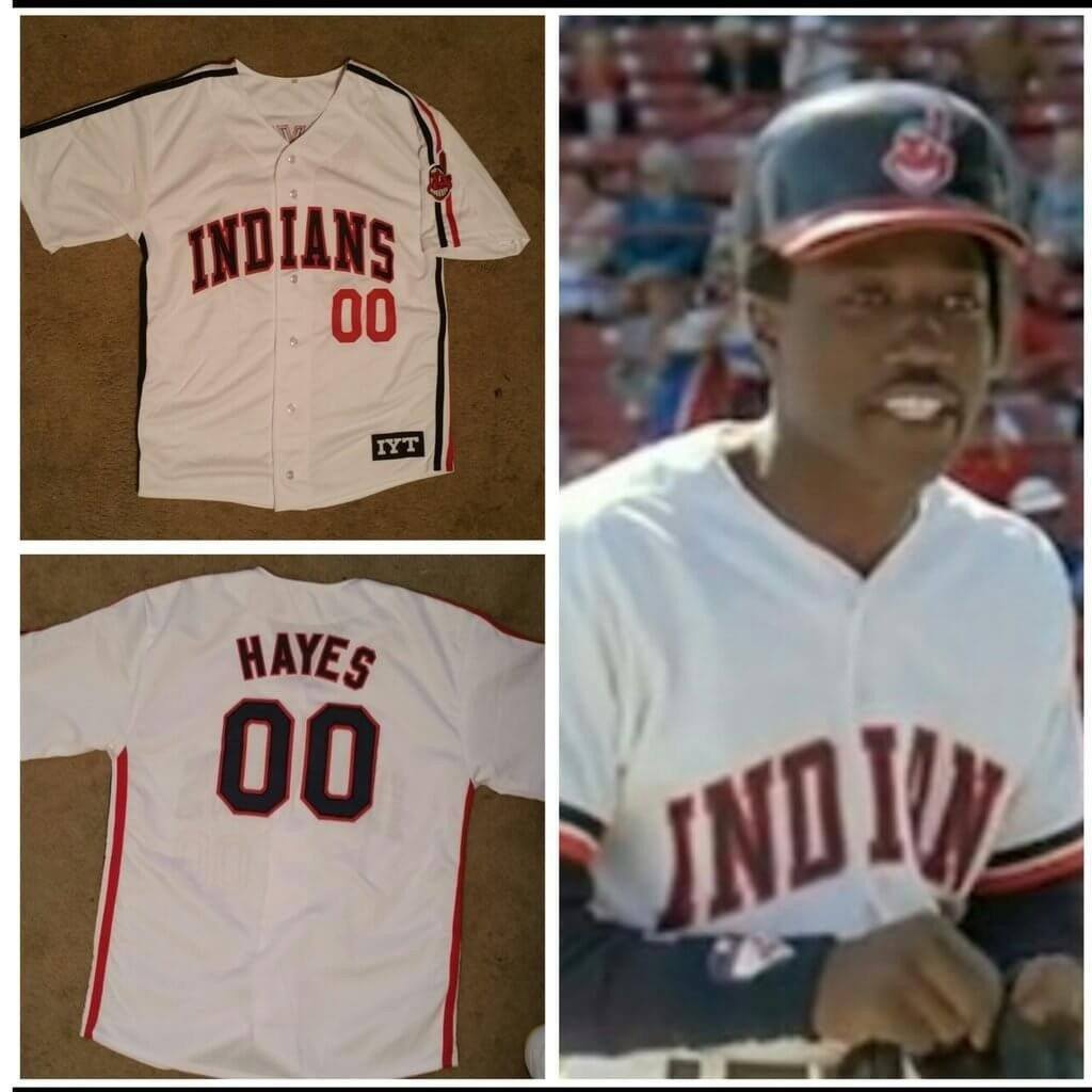 8071b3cf9 Von Hayes Hayes Indians Baseball Jersey 00 - Jersey Champs - Custom  Basketball