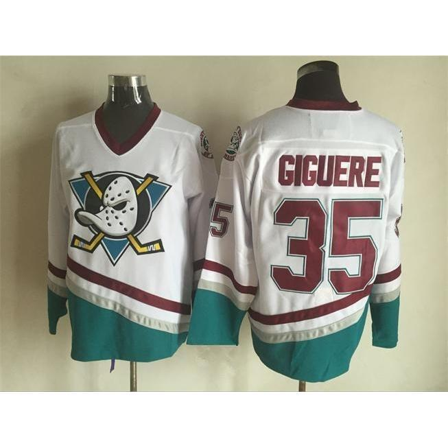 bbcff91f4 Mighty Ducks Movie Jersey Giguere  35 - Jersey Champs - Custom Basketball