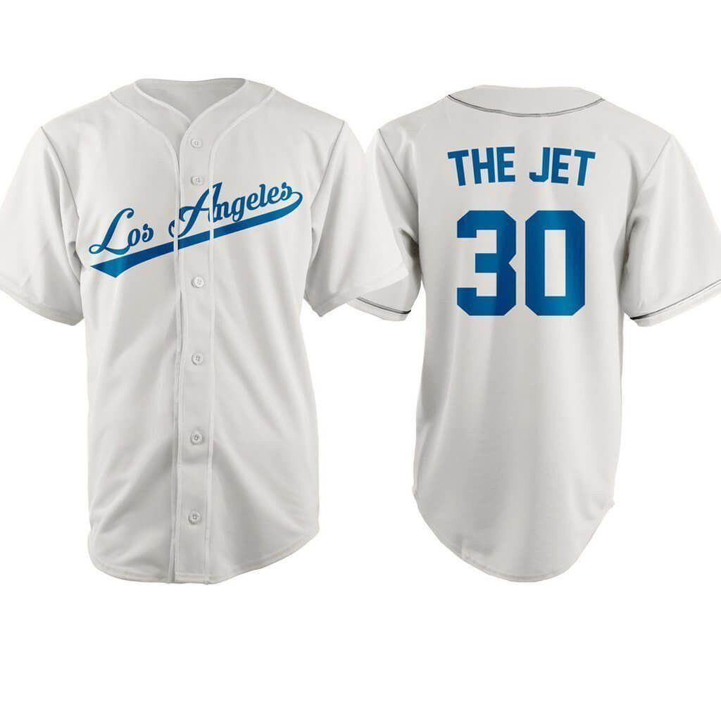 751f47e31 The Sandlot Los Angeles Benny The Jet Baseball Jersey  30 - Jersey ...