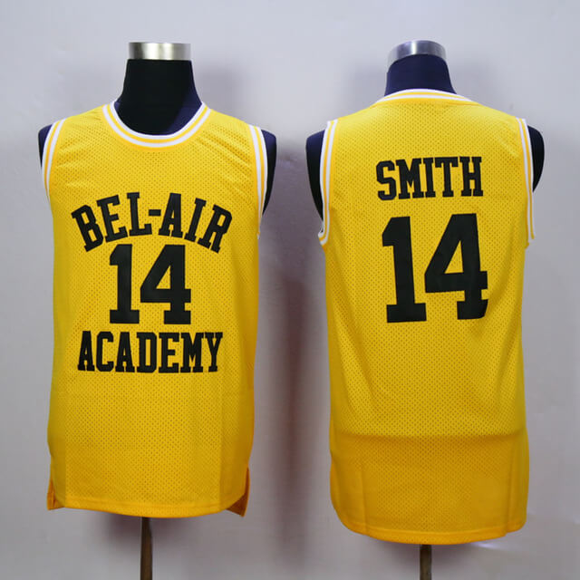 Will Smith Bel Air Academy Stitched Basketball Jersey  14 - Jersey Champs 7dcfd9003a45