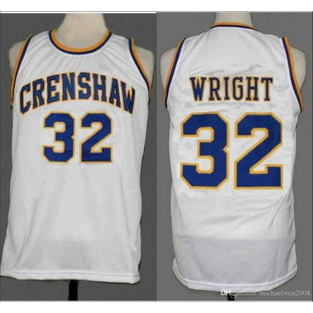 Monica Wright #32 Crenshaw Basketball Jersey White